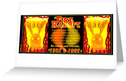 1927 1987 Chinese zodiac born Fire rabbit by Valxart.com  by Valxart