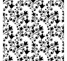 Elegance Seamless pattern with flowers tulips in vintage style Photographic Print