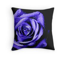 Lady in blue.. Throw Pillow