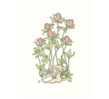 Red Clover All Over Art Print