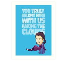 Among the Clouds (Star Wars)  Art Print