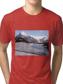 Bachalpesee with Fiescherhornen in the background, Switzerland Tri-blend T-Shirt