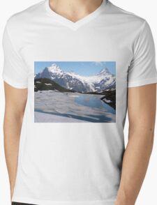 Bachalpesee with Fiescherhornen in the background, Switzerland Mens V-Neck T-Shirt