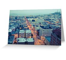 Powell Street at 6am Greeting Card