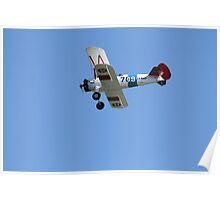 U.S. Navy Stearman Bi-plane Poster