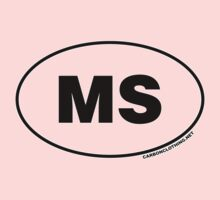 Mississippi MS  Euro Oval Sticker by CarbonClothing