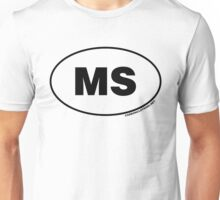 Mississippi MS  Euro Oval Sticker Unisex T-Shirt