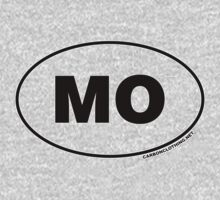 Missouri MO Euro Oval Sticker Baby Tee