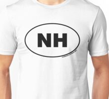New Hampshire NH Euro Oval Sticker Unisex T-Shirt
