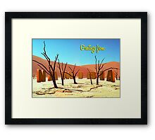 Greetings from Namibia Framed Print