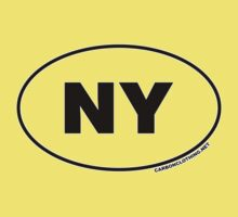 New York NY Euro Oval Sticker by CarbonClothing