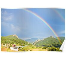 Rainbow Over Rollinsville Poster
