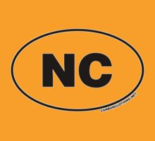 North Carolina NC  Euro Oval Sticker by CarbonClothing