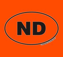 North Dakota ND Euro Oval Sticker by CarbonClothing