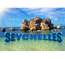 Greetings from Seychelles Photographic Print