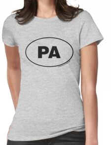 Pennsylvania PA Euro Oval Sticker Womens Fitted T-Shirt