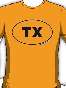 Texas TX Euro Oval Sticker T-Shirt