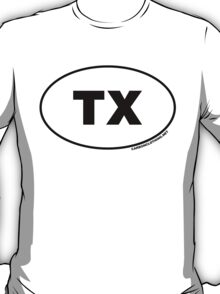 Texas TX Euro Oval Sticker T-Shirt