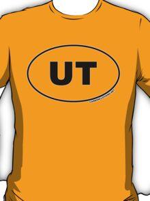 Utah UT Euro Oval Sticker T-Shirt