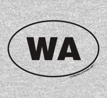 Washington WA Euro Oval Sticker Kids Clothes
