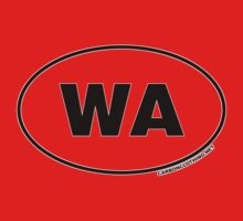 Washington WA Euro Oval Sticker by CarbonClothing