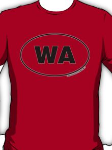 Washington WA Euro Oval Sticker T-Shirt