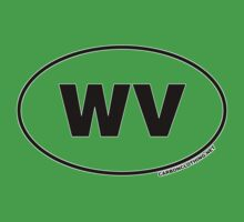 West Virginia WV Euro Oval Sticker by CarbonClothing