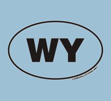 Wyoming WY Euro Oval Sticker by CarbonClothing