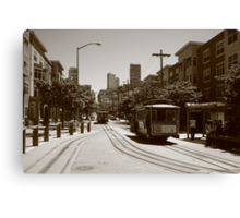 Tram and tramway Canvas Print