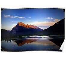 Mt Rundle Banff Alberta Poster
