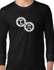 Tau vs Pi (dark) Long Sleeve T-Shirt