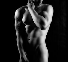 43127bw Male Art Nude by PrairieVisions