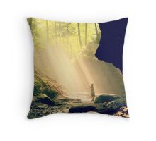 sun in the woods Throw Pillow