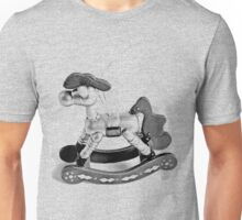Rocking Horse Christmas Ornament. Christmas and Holiday Digital Engraving Image Unisex T-Shirt