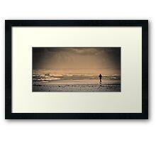 Lone runner Framed Print