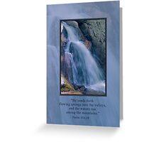 Mountain Waterfall Greeting Card Greeting Card