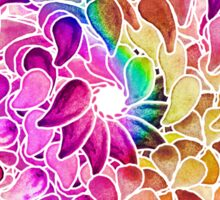 Rainbow Watercolor Paisley Flower Sticker