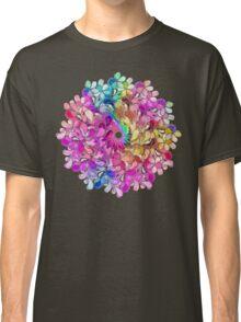 Rainbow Watercolor Paisley Flower Classic T-Shirt