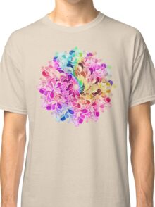 Rainbow Watercolor Paisley Flower Classic T-Shirt