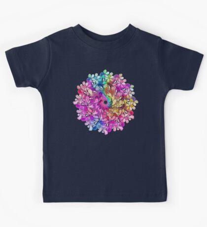 Rainbow Watercolor Paisley Flower Kids Tee