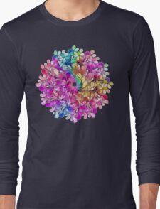 Rainbow Watercolor Paisley Flower Long Sleeve T-Shirt
