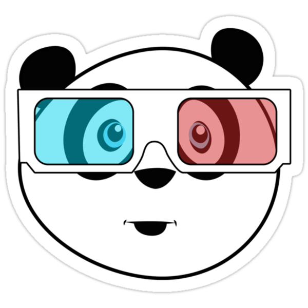 Panda - 3D Glasses (Black) by Adamzworld