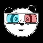 Panda - 3D Glasses (Black) by Adamzworld