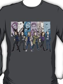 Agents of S.H.I.E.L.D. Line Up T-Shirt