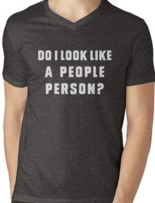 Do i look like a people person Mens V-Neck T-Shirt