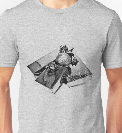 Christmas Presents. Christmas and Holiday Digital Engraving Image Unisex T-Shirt