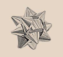 Christmas Bow. Christmas and Holiday Digital Engraving Image Unisex T-Shirt