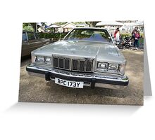 Mercury Vintage Car Greeting Card