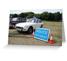 MGB GT V8 Vintage Police Car Greeting Card