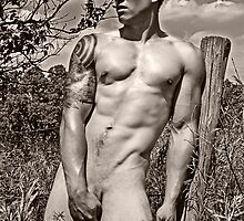 44801bw Male Art Nude by PrairieVisions
